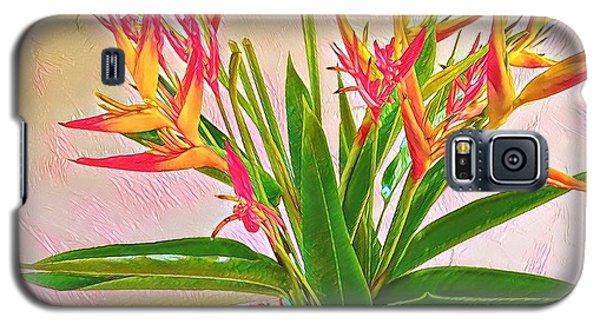 Aloha Bouquet Of The Day Halyconia And Birds In Pink Galaxy S5 Case