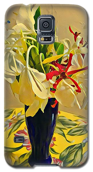 Aloha Bouquet Of The Day - White Gingert With Red Orchids - A New Hue Galaxy S5 Case