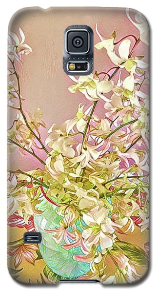 Aloha Bouquet Of The Day - White Orchids In Pink Galaxy S5 Case