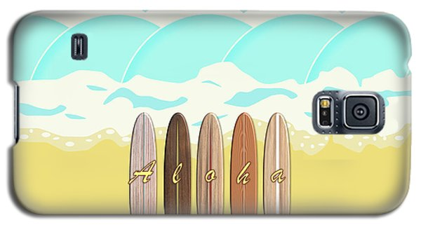 Aloha Surf Wave Beach Galaxy S5 Case