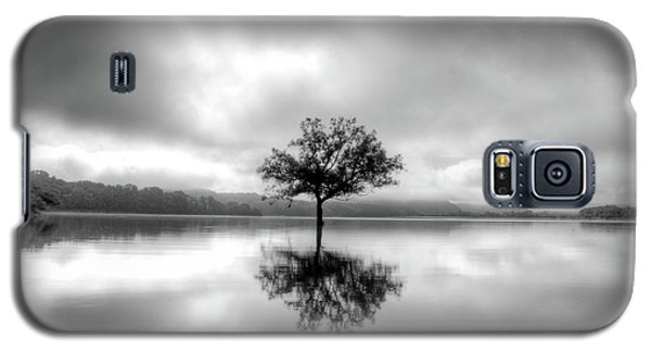 Galaxy S5 Case featuring the photograph Alone Bw by Douglas Stucky