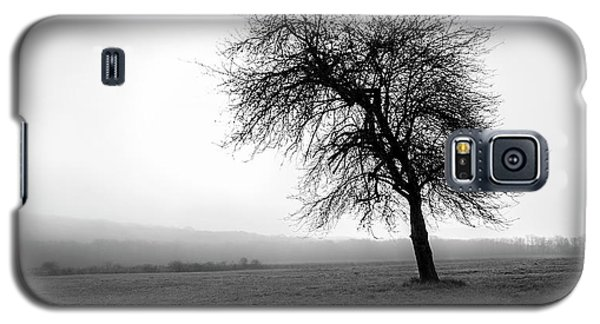 Galaxy S5 Case featuring the photograph Alone In A Field by Andrew Pacheco