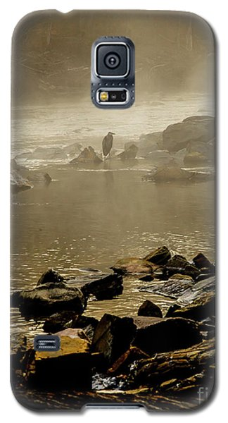 Galaxy S5 Case featuring the photograph Alone In The Mist by Iris Greenwell
