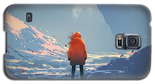 Alone In Winter Galaxy S5 Case