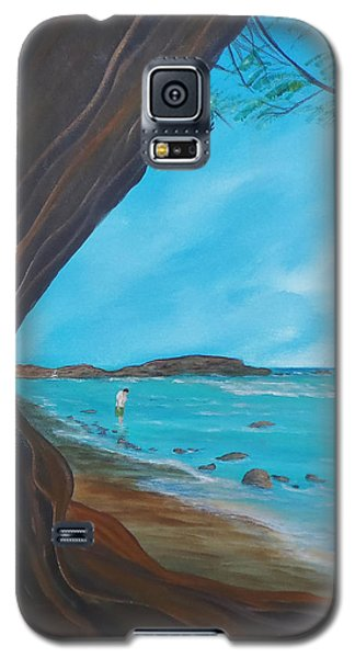 Alone On The Beach Galaxy S5 Case