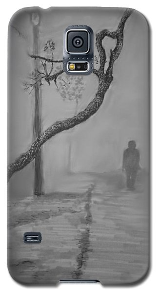 Galaxy S5 Case featuring the mixed media Alone by Rachel Hames