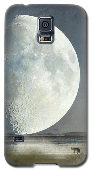 Galaxy S5 Case featuring the photograph Alone With The Moon by Angie Vogel