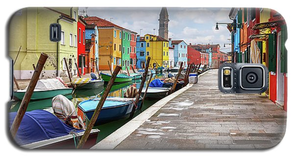 Along The Canal In Burano Island Galaxy S5 Case
