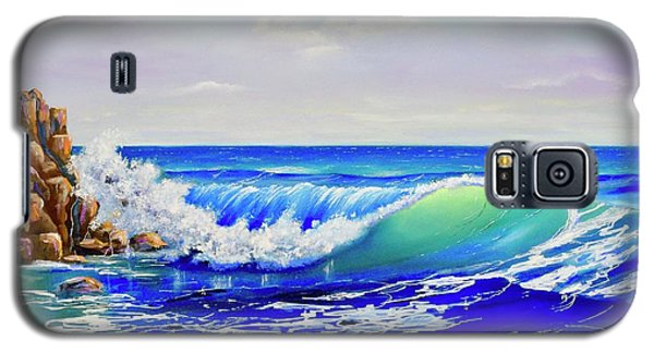 Galaxy S5 Case featuring the painting Along The Coast by Mary Scott