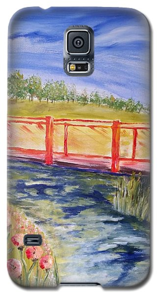 Galaxy S5 Case featuring the painting Along The Greenbelt by Carol Duarte