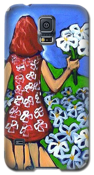 Galaxy S5 Case featuring the painting Along The New Path by Winsome Gunning