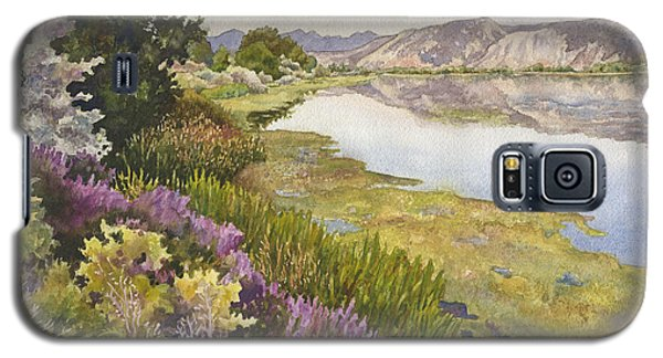 Galaxy S5 Case featuring the painting Along The Oregon Trail by Anne Gifford