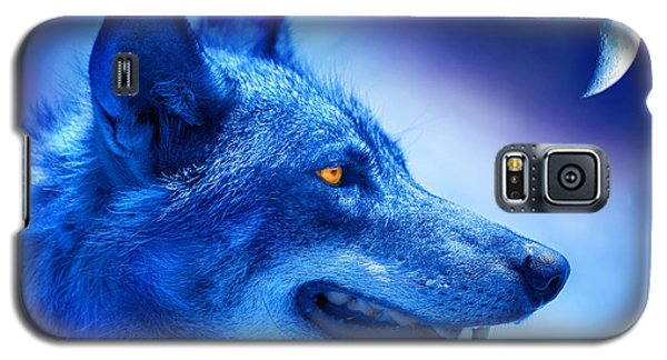 Alpha Wolf Galaxy S5 Case by Mal Bray