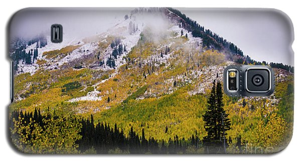 Galaxy S5 Case featuring the photograph Alpine Loop Autumn Storm - Wasatch Mountains  by Gary Whitton