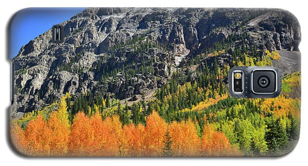 Galaxy S5 Case featuring the photograph Alpine Loop Road Aspens by Ray Mathis