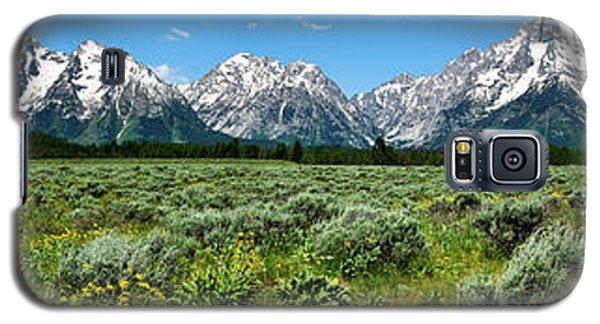 Alpine Meadow Teton Panorama II Galaxy S5 Case by Greg Norrell