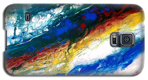 Galaxy S5 Case featuring the painting Alpine River Run by Patricia L Davidson
