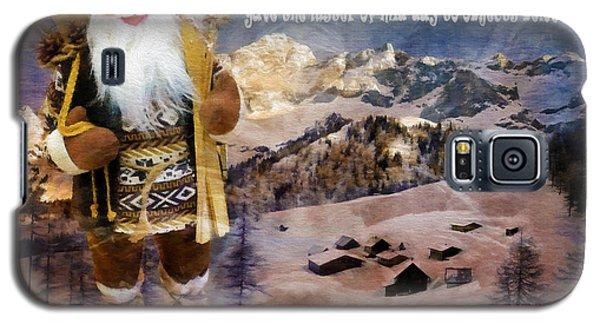 Alpine Santa Card 2015 Galaxy S5 Case
