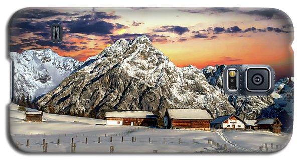 Alpine Winter Scene Galaxy S5 Case