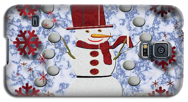 Galaxy S5 Case featuring the photograph Alto Cheerful Snowman by Rockin Docks Deluxephotos