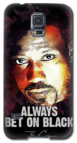 Movie Galaxy S5 Case - Always Bet On Black - Passenger 57 by Dusan Naumovski