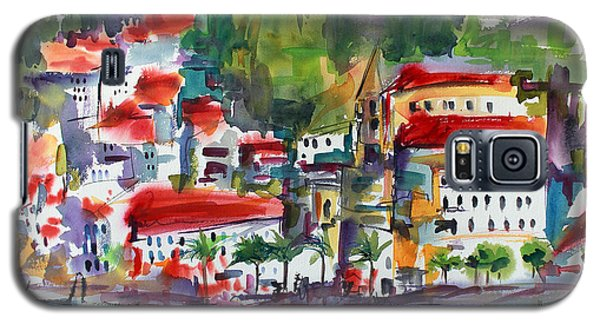 Amalfi Coast Italy Expressive Watercolor Galaxy S5 Case