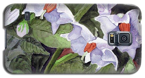 Amanda's Blue Potato Flowers Galaxy S5 Case
