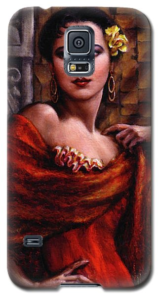 Galaxy S5 Case featuring the painting Amarillo Rose by Jane Bucci