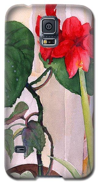 Amaryllis And Begonia Galaxy S5 Case