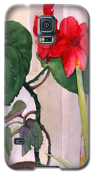 Amaryllis And Begonia Galaxy S5 Case