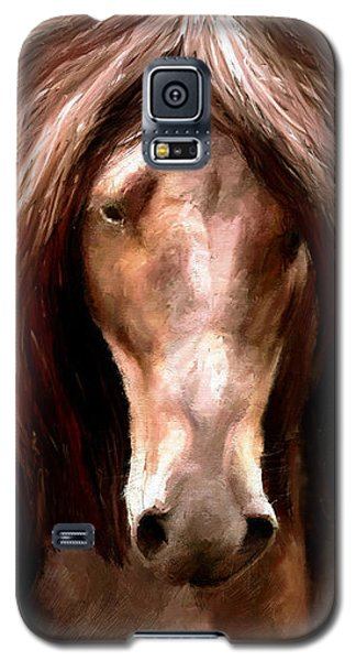Galaxy S5 Case featuring the painting Amazing Horse by James Shepherd