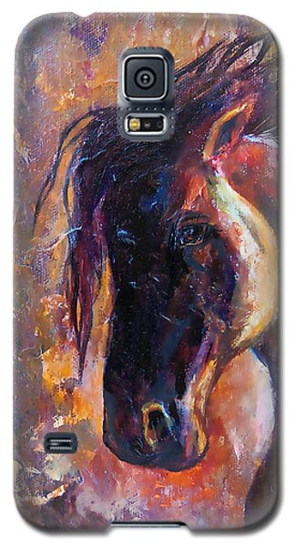 Galaxy S5 Case featuring the painting Amber Dawn by Karen Kennedy Chatham