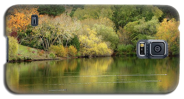 Galaxy S5 Case featuring the photograph Amber Days Of Autumn by Marion Cullen