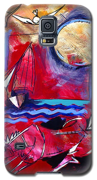 Ameeba 34-horse And Sailboat Galaxy S5 Case