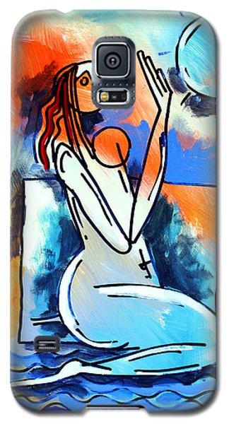 Ameeba- Nude Woman On Beach 5 Galaxy S5 Case