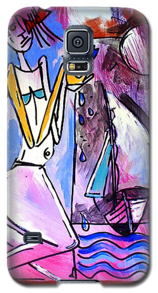 Ameeba- Woman And Sailboat Galaxy S5 Case