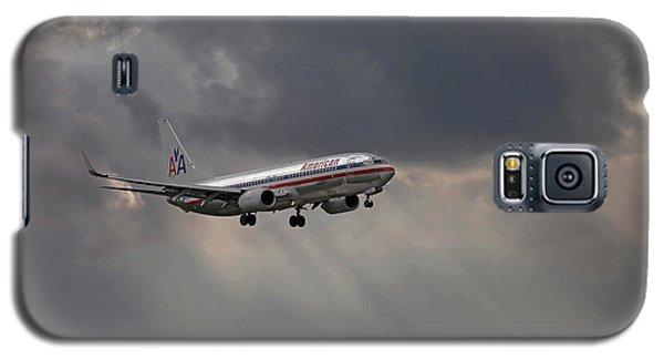 American Aircraft Landing After The Rain. Miami. Fl. Usa Galaxy S5 Case by Juan Carlos Ferro Duque