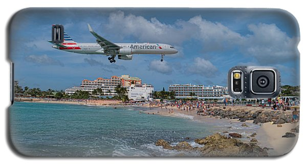 American Airlines Landing At St. Maarten Airport Galaxy S5 Case
