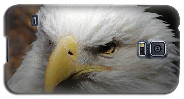 Galaxy S5 Case featuring the digital art American Bald Eagle Portrait 3 by Ernie Echols