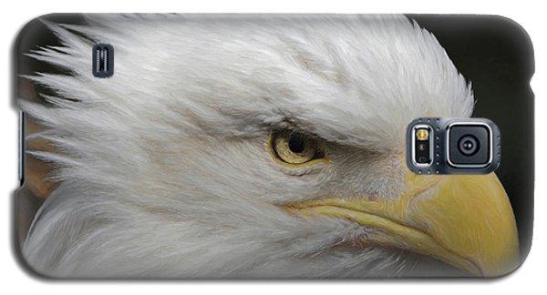 Galaxy S5 Case featuring the digital art American Bald Eagle Portrait by Ernie Echols