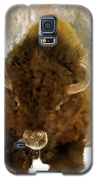 Galaxy S5 Case featuring the painting American Bison by James Shepherd