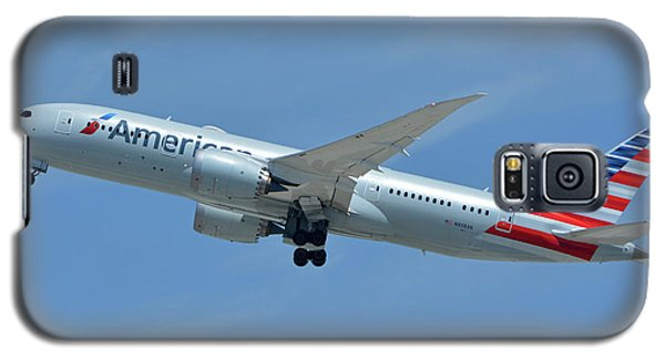 Galaxy S5 Case featuring the photograph American Boeing 787-8 N808an Los Angeles International Airport May 3 2016 by Brian Lockett