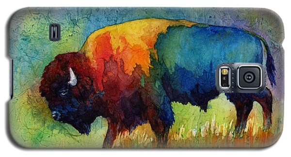 Galaxy S5 Case featuring the painting American Buffalo IIi by Hailey E Herrera