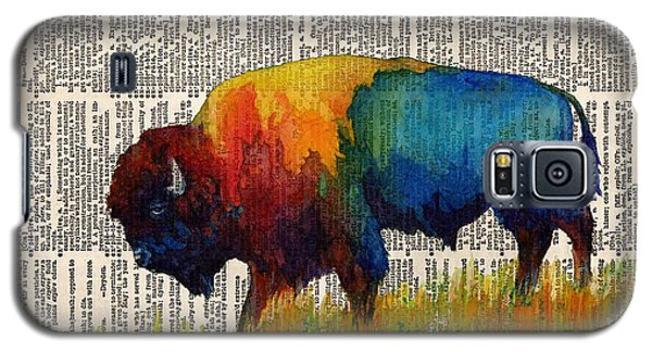 American Buffalo IIi On Vintage Dictionary Galaxy S5 Case by Hailey E Herrera
