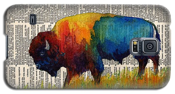 Bison Galaxy S5 Case - American Buffalo IIi On Vintage Dictionary by Hailey E Herrera