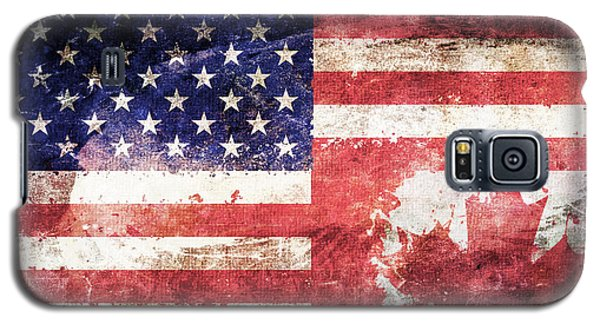 American Canadian Tattered Flag Galaxy S5 Case