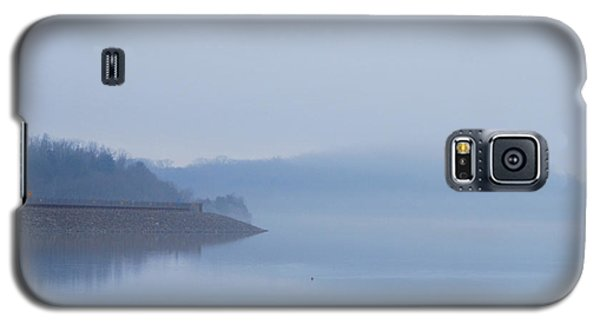 Galaxy S5 Case featuring the photograph American Coot In Misty Fog 20120316_40a by Tina Hopkins