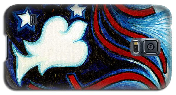 Galaxy S5 Case featuring the painting American Dove by Genevieve Esson