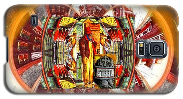 Galaxy S5 Case featuring the digital art American Dream Burning - Workers Betrayed by Ray Tapajna
