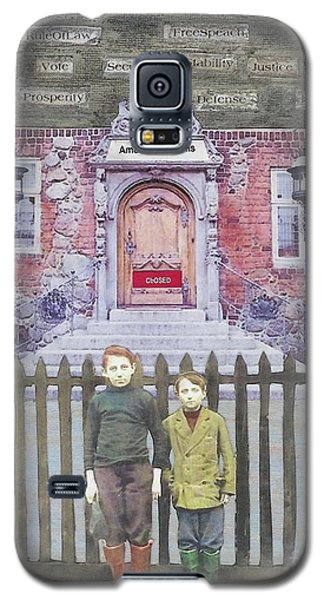 Galaxy S5 Case featuring the mixed media American Dreams by Desiree Paquette